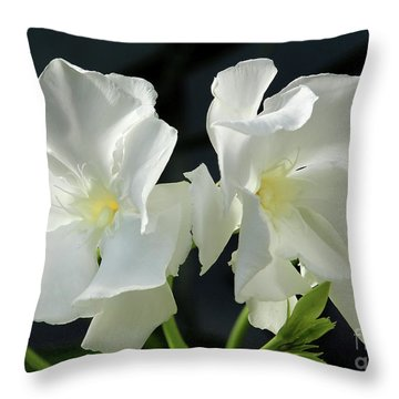 Oleander Mont Blanc 1 Throw Pillow