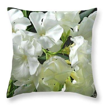 Oleander Mont Blanc 2 Throw Pillow