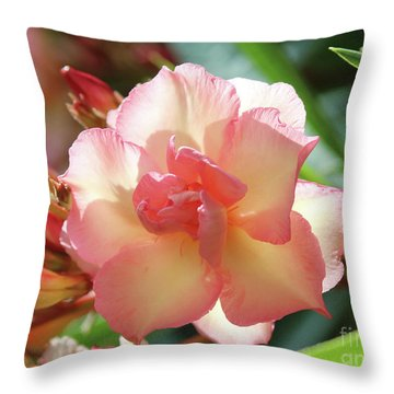 Oleander Mrs. Roeding 1 Throw Pillow