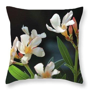 Oleander Petite Salmon 2 Throw Pillow