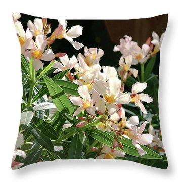 Oleander Petite Salmon 3 Throw Pillow