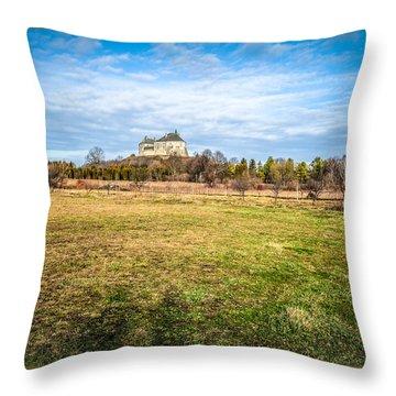 Olesko Castle In Ukraine Throw Pillow by Tetyana Kokhanets