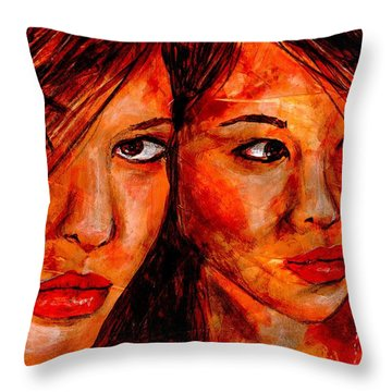 Olga'a Mirror Throw Pillow