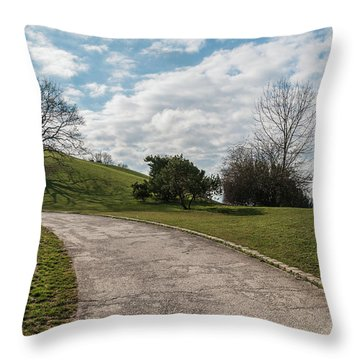 Olimpia Park. Munich Throw Pillow by Sergey Simanovsky