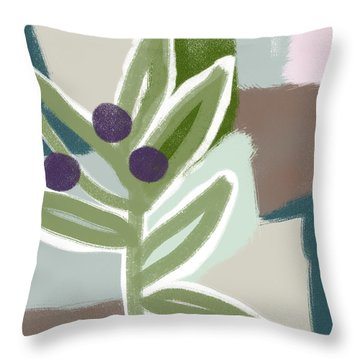 Olive Branch 1- Art By Linda Woods Throw Pillow