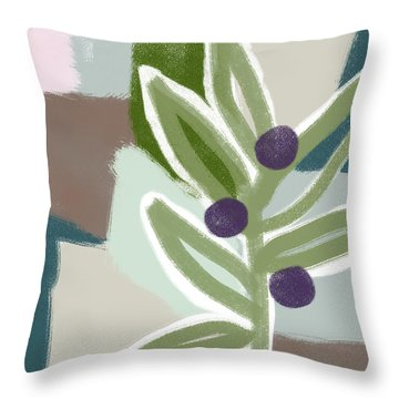 Olive Branch 2- Art By Linda Woods Throw Pillow