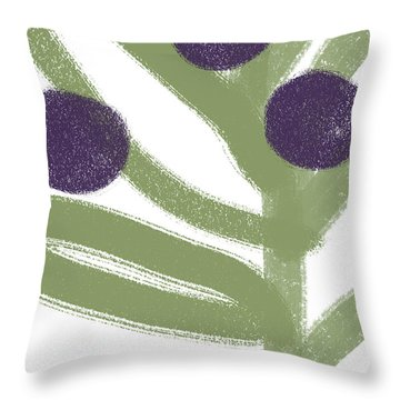 Olive Branch Hanukkah Card- Art By Linda Woods Throw Pillow
