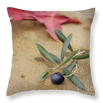Throw Pillow featuring the photograph Olive by Cindy Garber Iverson