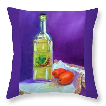Olive Oil And Tomatoes Throw Pillow