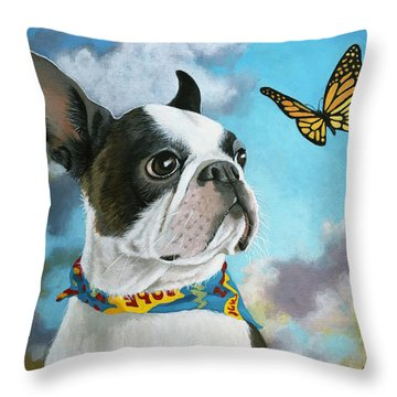 Oliver - Dog Pet Portrait Throw Pillow