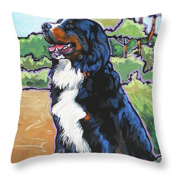 Oliver Throw Pillow by Nadi Spencer