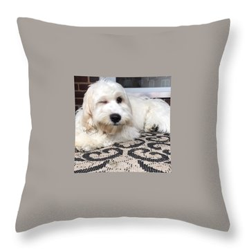 Oliver Wink Throw Pillow