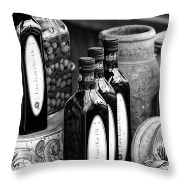 Olives And Oil Throw Pillow
