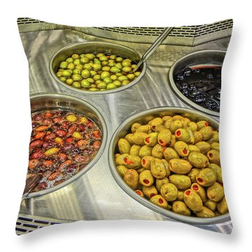Olives Throw Pillow by Bruce Iorio