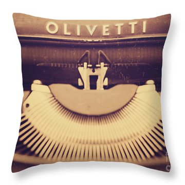 Olivetti Typewriter Throw Pillow