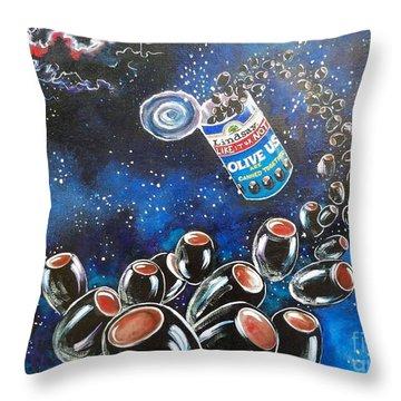 Blaa Kattproduksjoner                     Oliveus Are Canned Together Can Throw Pillow