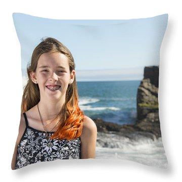 Olivia Throw Pillow by Alex Lapidus