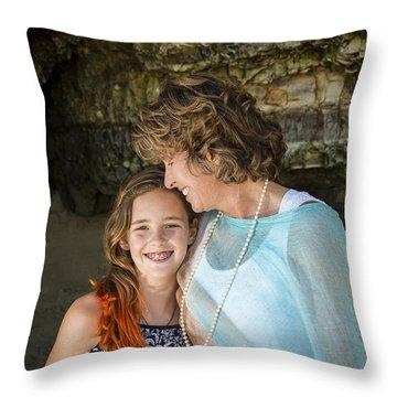 Olivia And Toni Throw Pillow by Alex Lapidus