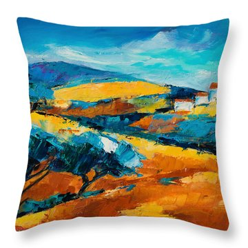 Oliviers En Provence Throw Pillow