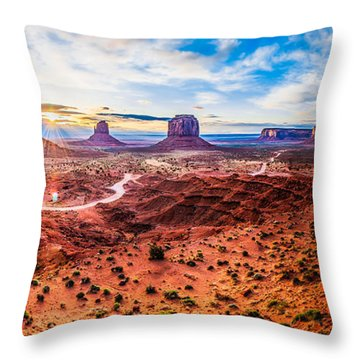 Oljato-monument Valley Throw Pillow