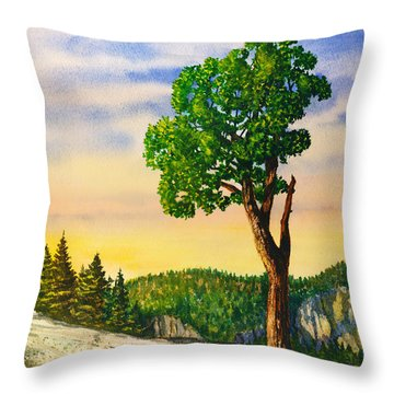 Olmsted Point Tree Throw Pillow
