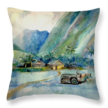 Olowalu Valley Throw Pillow