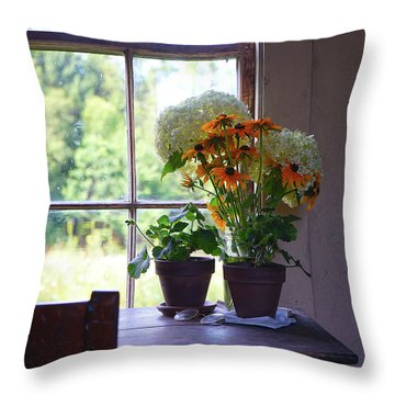 Olson House Flowers On Table Throw Pillow