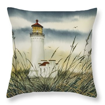 Olympic Coast Sentinel Throw Pillow by James Williamson