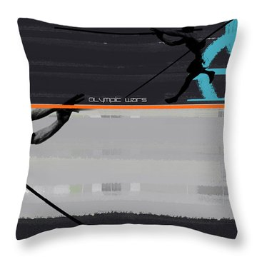 Olympic Effort Throw Pillow by Naxart Studio