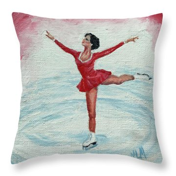Olympic Figure Skater Throw Pillow