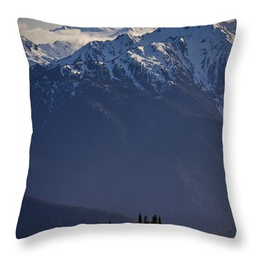 Olympic National Park Throw Pillow by Albert Seger