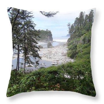Olympic National Park Beach Throw Pillow