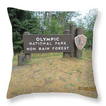 Olympic Park Sign Throw Pillow