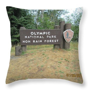 Throw Pillow featuring the photograph Olympic Park Sign by Tony Mathews