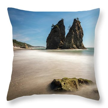 Throw Pillow featuring the photograph Olympic Shoreline by Pierre Leclerc Photography