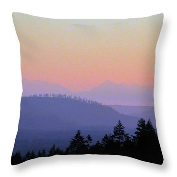 Olympic Silhouette Throw Pillow