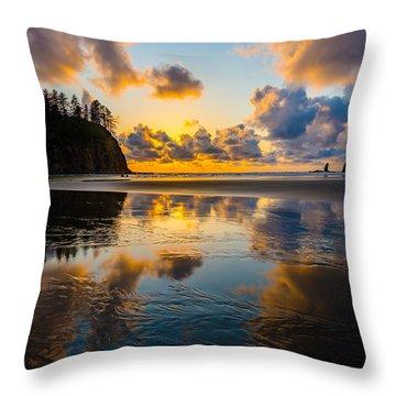 Olympic Sunset Glow Throw Pillow