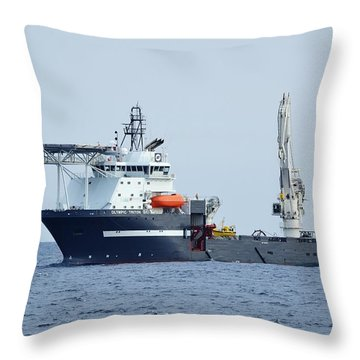 Olympic Triton Support Vessel Throw Pillow