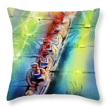 Olympics Rowing 02 Throw Pillow
