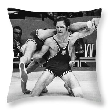 Olympics: Wrestling, 1972 Throw Pillow