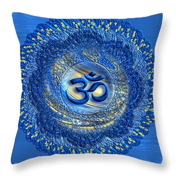 Om Mandala Throw Pillow