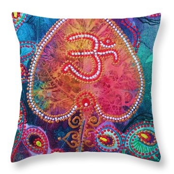 Om Shanti Throw Pillow