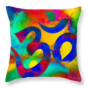 Om Symbol, Rainbow Throw Pillow