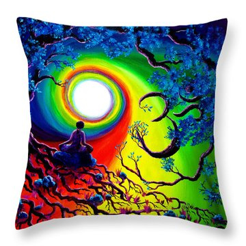 Om Tree Of Life Meditation Throw Pillow
