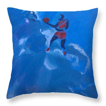 Omaggio A Michael Jordan Throw Pillow