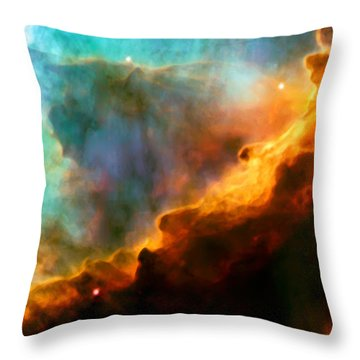 Omega Swan Nebula 3 Throw Pillow