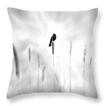 Throw Pillow featuring the photograph Omen by John Poon