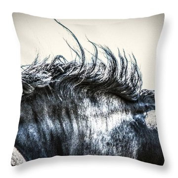 #1240 - Mortana Morgan Mare Throw Pillow