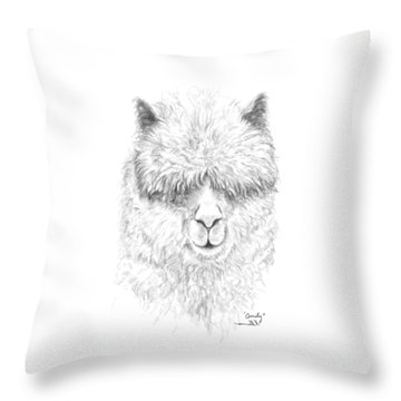Throw Pillow featuring the drawing Omily by K Llamas