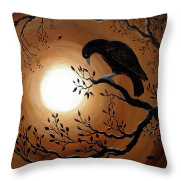 Ominous Bird Of Yore Throw Pillow